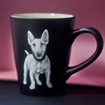 One-of-a-kind picture on a porcelain cup