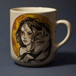 Hand-painted cup is the perfect gift for a boyfriend or girlfriend