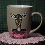 This wonderful hand-painted cup will be a great birthday gift